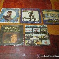 Discos de vinilo: MIGUEL RIOS / LOTE 5 SINGLE 45 RPM// EDITADO POR HISPAVOX. Lote 88994324
