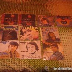 Discos de vinilo: PEDRO RUY BLAS ( LOS GRIMM -CANARIOS ) / LOTE 10 SINGLES 45 RPM// EDITADO POR POPLANDIA -CBS. Lote 88995044