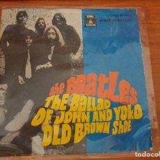 Discos de vinilo: THE BEATLES - SINGLE - THE BALLAD OF JOHN AND YOKO / OLD BROWN SHOE - SPAIN 1969. Lote 88998876