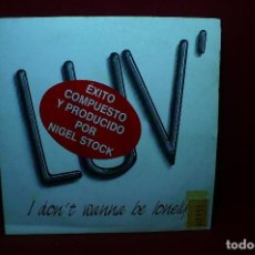 Discos de vinilo: LUV / I DON'T WANNA BE LONELY / I DON'T WANNA BE LONELY / CLASH PROMOCIONAL, 1990.. Lote 89007688