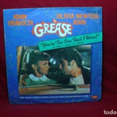 Discos de vinilo: JOHN TRAVOLTA & OLIVIA NEWTON-JOHN, GREÁSE / YOU'RE THE ONE THAT I WANT /ALONE AT A DRIVE-IN MOVIE, . Lote 89028720