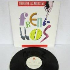 Discos de vinilo: FRENILLOS - DISFRUTEN LAS MOLESTIAS - LP - SOLERA DISCOS 1989 SPAIN MOVIDA - RARE NUEVO. Lote 89040208