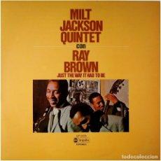 Discos de vinilo: MILT JACKSON QUINTET CON RAY BROWN – JUST THE WAY IT HAD TO BE - LP SPAIN 1976 - ABC IMPULSE!. Lote 89153796