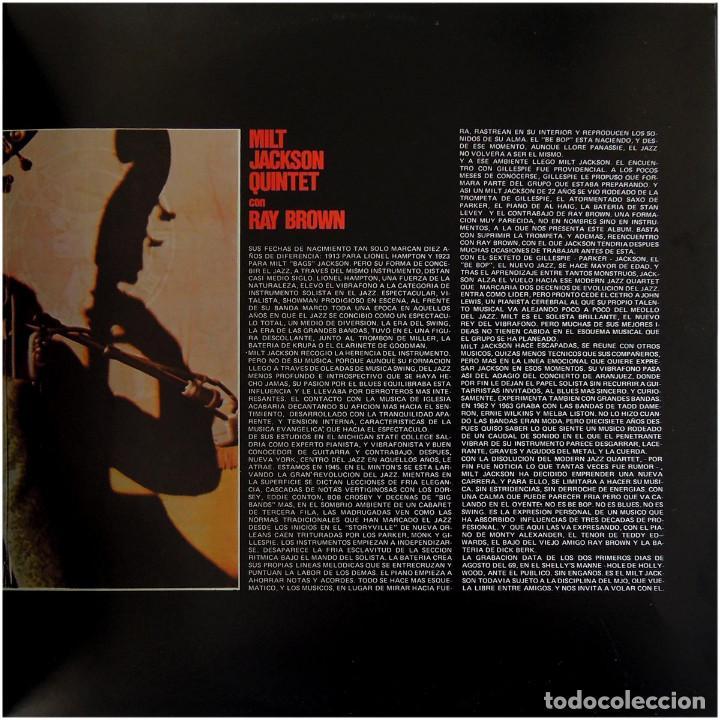 Discos de vinilo: Milt Jackson Quintet Con Ray Brown – Just The Way It Had To Be - Lp Spain 1976 - ABC Impulse! - Foto 4 - 89153796
