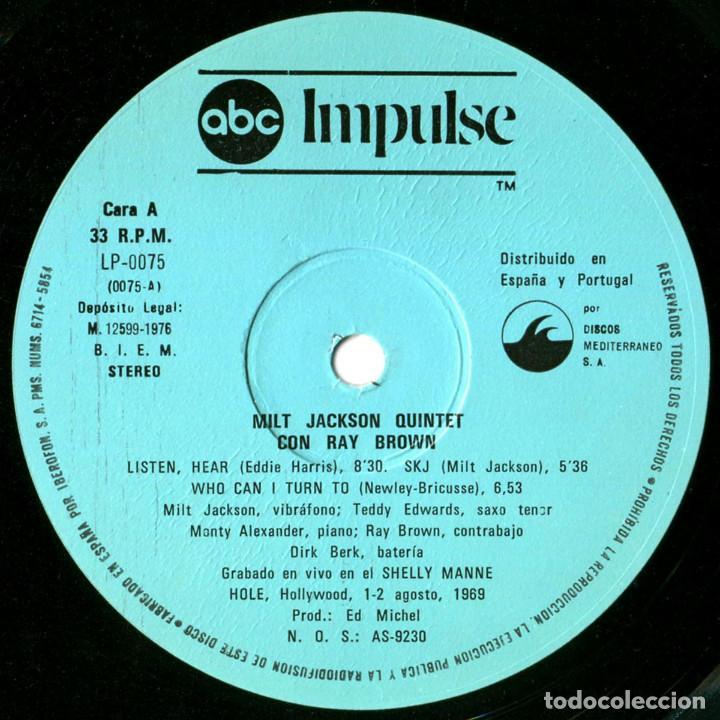 Discos de vinilo: Milt Jackson Quintet Con Ray Brown – Just The Way It Had To Be - Lp Spain 1976 - ABC Impulse! - Foto 5 - 89153796