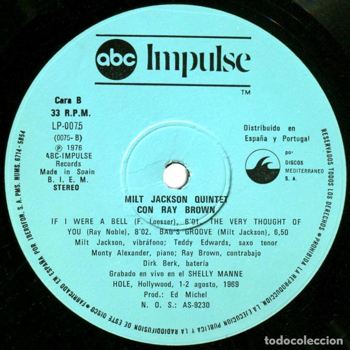 Discos de vinilo: Milt Jackson Quintet Con Ray Brown – Just The Way It Had To Be - Lp Spain 1976 - ABC Impulse! - Foto 6 - 89153796