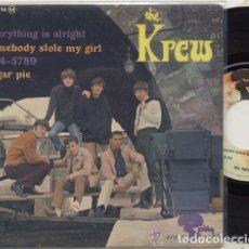 Discos de vinilo: KREW / EVERYTHING IS ALRIGHT / EP 45 RPM / EDITADO POR RIVIERA. Lote 89156108