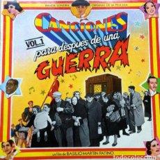 Discos de vinil: VARIOUS - CANCIONES PARA DESPUES DE UNA GUERRA -DOBLE LP-. Lote 89157424