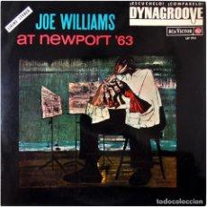 Discos de vinilo: JOE WILLIAMS – JOE WILLIAMS AT NEWPORT 63' - LP SPAIN 1964 - RCA VICTOR LSP-2762. Lote 89157708