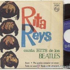 Discos de vinilo: RITA REYS CANTA HIT DE LOS BEATLES / EP RPM / EDITADO PHILIPS 1968 ESPAÑA. Lote 89161696