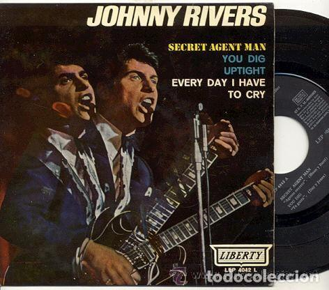 JOHNNY RIVERS / SECRET AGENT MAN // EP 45 RPM / EDITADO LIBERTY 1966 ESPAÑA (Música - Discos de Vinilo - EPs - Pop - Rock Extranjero de los 50 y 60)