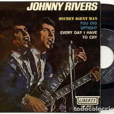 Discos de vinilo: JOHNNY RIVERS / SECRET AGENT MAN // EP 45 RPM / EDITADO LIBERTY 1966 ESPAÑA. Lote 89161936