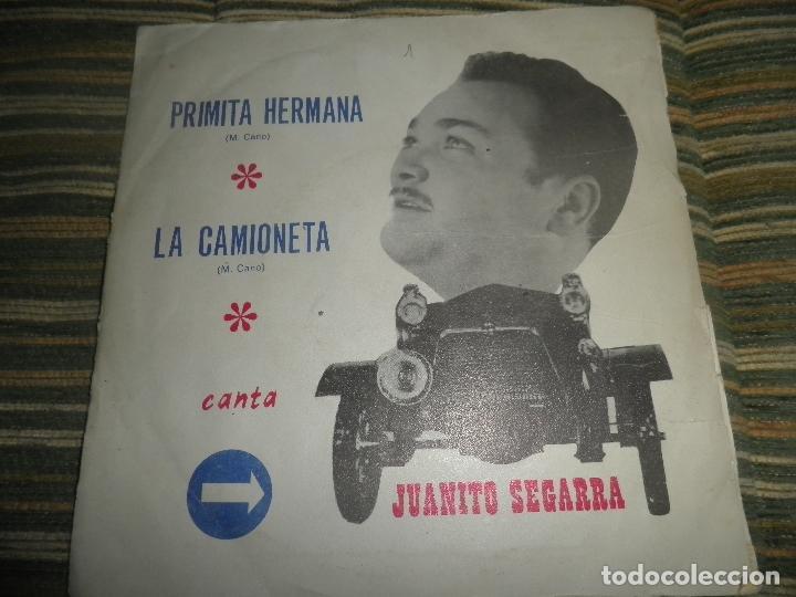 JUANTIO SEGARRA - PRIMITA HERMANA SINGLE - ORIGINAL ESPAÑOL - SAN DIEGO 1972 - MONO -PROMOCIONAL (Música - Discos de Vinilo - Maxi Singles - Solistas Españoles de los 50 y 60)