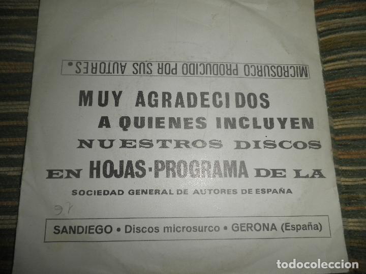 Discos de vinilo: JUANTIO SEGARRA - PRIMITA HERMANA SINGLE - ORIGINAL ESPAÑOL - SAN DIEGO 1972 - MONO -PROMOCIONAL - Foto 2 - 89170996