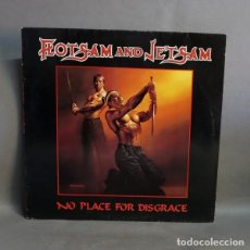 Discos de vinilo: LP. VINILO. FLOTSAM AND JETSAM - NO PLACE FOR DISGRACE. 1988.. Lote 89176556