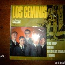 Discos de vinilo: LOS GEMINIS - BUS STOP + MAMA + ERES ALGO SALVAJE (WILD THING - TROGGS) + TIEMPO - FIRMADO. Lote 89196560
