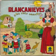 Discos de vinilo: BLANCANIEVES Y LOS SIETE ENANITOS (EP (RECONSTRUCCION TECNICA DE 1954). Lote 89196620