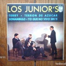 Discos de vinilo: LOS JUNIOR'S - TERRY + SONAMBULO + TERRON DE AZUCAR + YO QUE NO VIVO SIN TI. Lote 89197000
