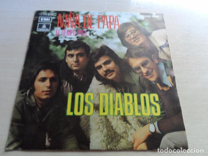 SINGLE LOS DIABLOS NIÑA DE PAPA - EL TIEMPO PASA (Música - Discos - Singles Vinilo - Flamenco, Canción española y Cuplé)