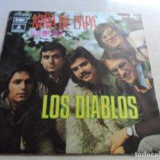 Discos de vinilo: SINGLE LOS DIABLOS NIÑA DE PAPA - EL TIEMPO PASA. Lote 89197048