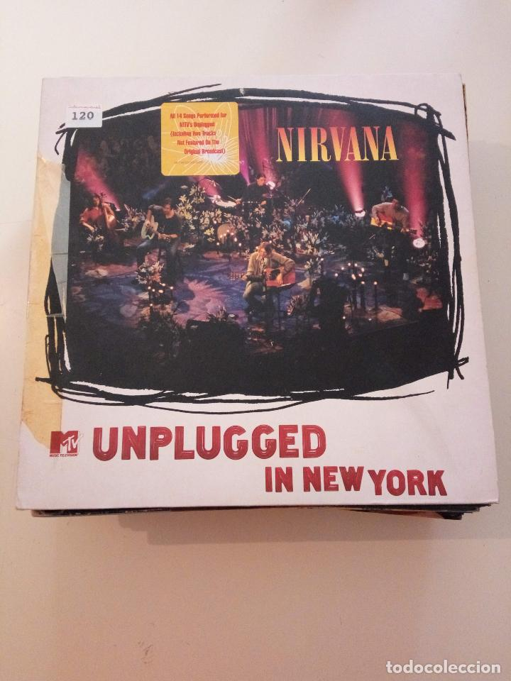 Discos de vinilo: C NIRVANA - MTV UNPLUGGED IN NEW YORK - 1era EDICION VINILO BLANCO 1994 CON INSERTO - Foto 1 - 150843682