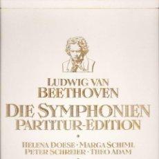 Discos de vinilo: LUDWIG VAN BEETHOVEN DIE SYMPHONIEN PARTITUR-EDITION VER DESCRIPCION. Lote 89222384