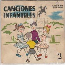 Discos de vinilo: CANCIONES INFANTILES (CANCIONES INFANTILES DE JUEGO Y CORO) Nº 2 (EP 1959). Lote 89260508