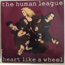 Discos de vinilo: THE HUMAN LEAGUE - HEART LIKE A WHEEL - NUEVO + HOJA PROMO. Lote 89282228
