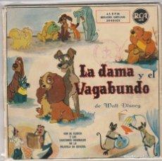 Discos de vinilo: LA DAMA Y EL VAGABUNDO (CANCIONES DE LA PELICULA EN ESPAÑOL) DOBLE DISCO 1959. Lote 89284056