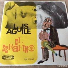 Discos de vinilo: LUIS AGUILÉ. EL SERAFINO / L'AMOUR. SONOPLAY 1967. Lote 89300080