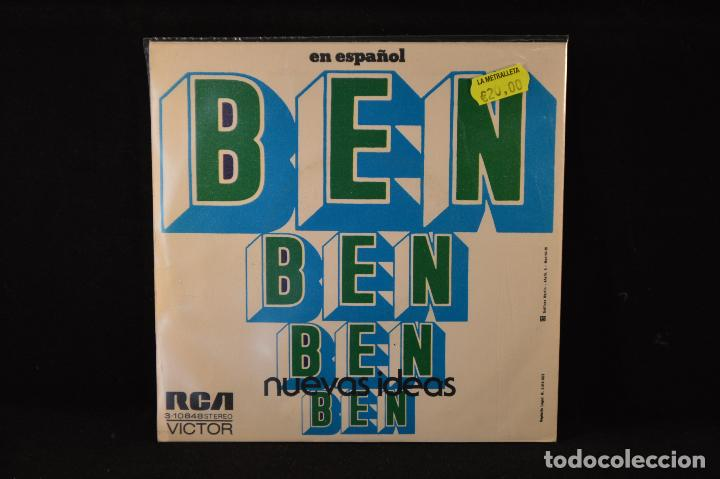 Discos de vinilo: NUEVAS IDEAS - BEN / Me Tienes Pendiente De Ti - SINGLE - Foto 2 - 89303796