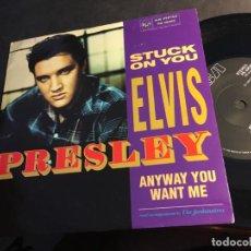 Discos de vinilo: ELVIS PRESLEY ( STUCK ON YOU / ANYWAY YOU WANT ME) SINGLE UK (EPI8). Lote 89308608