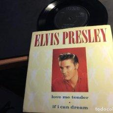 Discos de vinilo: ELVIS PRESLEY ( LOVE ME TENDER / IF I CAN DREAM) SINGLE (EPI8). Lote 89310788