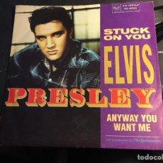 Discos de vinilo: ELVIS PRESLEY ( STUCK ON YOU / ANYWAY YOU WANT ME) SINGLE UK (EPI8). Lote 89311652