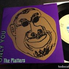 Discos de vinilo: THE PLATTERS (ONLY YOU) SINGLE JAPAN PROMO (EPI8). Lote 89312192