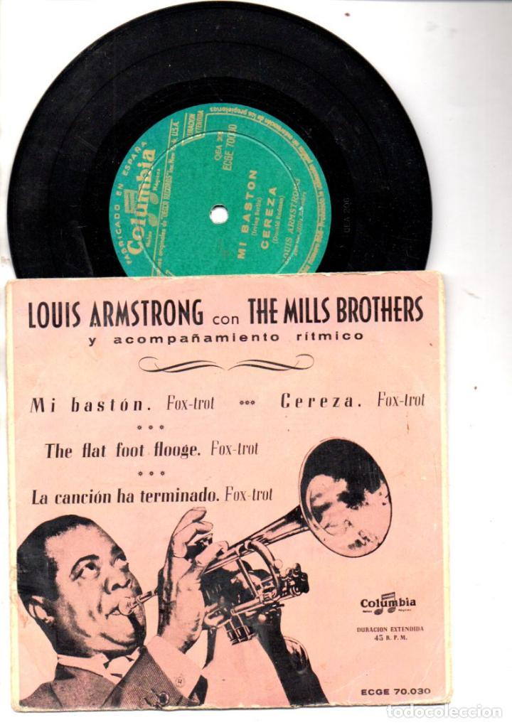 LOUIS ARMSTRONG CON THE MILLS BROYHERS : MI BASTÓN + 3 (COLUMBIA) (Música - Discos de Vinilo - EPs - Jazz, Jazz-Rock, Blues y R&B)