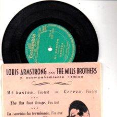 Discos de vinilo: LOUIS ARMSTRONG CON THE MILLS BROYHERS : MI BASTÓN + 3 (COLUMBIA). Lote 89338520