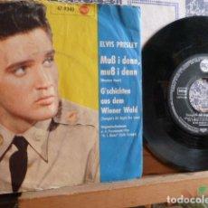 Discos de vinilo: ELVIS PRESLEY -WOODEN HEART -Y OTRA EDICION ALEMANA -MADE IN GERMANY. Lote 89342420