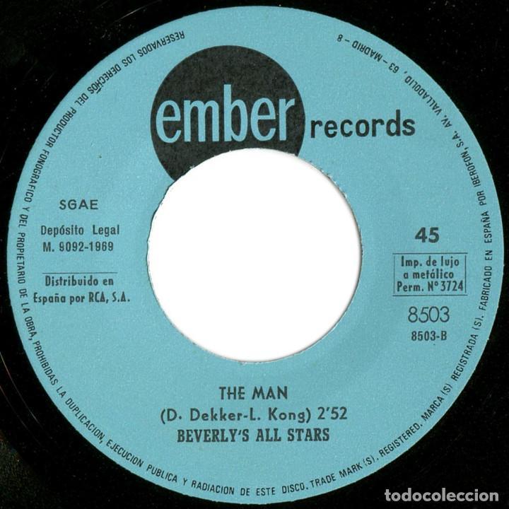 Discos de vinilo: Desmond Dekker & The Aces / Beverlys All Stars – Israelites / The Man - Sg Spain 1969 - Ember - Foto 4 - 89346300