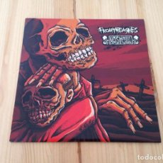 Discos de vinilo: FROMTHEASHES/ NASHGUL -SPLIT EP GRIND CORE. Lote 114687654