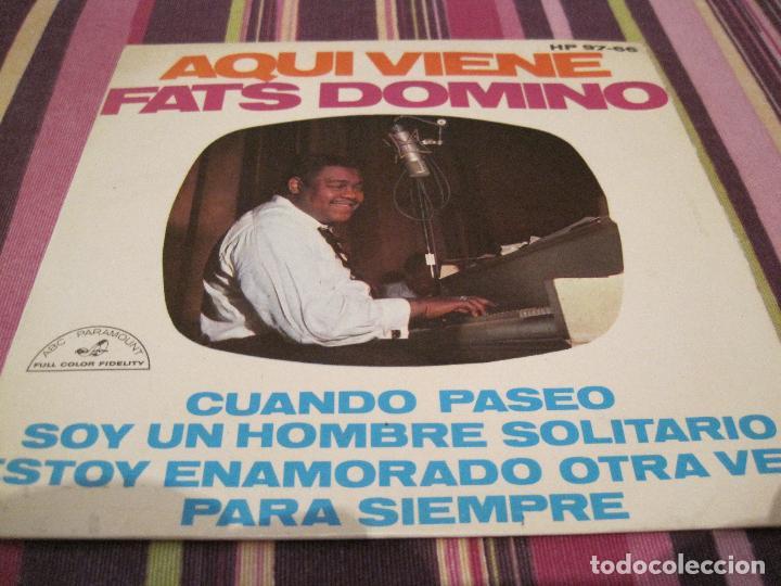 EP- FATS DOMINO AQUI VIENE HISPAVOX 9766 SPAIN 1963 (Música - Discos de Vinilo - EPs - Rock & Roll)