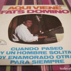 Discos de vinilo: EP- FATS DOMINO AQUI VIENE HISPAVOX 9766 SPAIN 1963. Lote 89378608