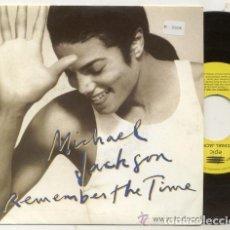Discos de vinilo: MICHAEL JACKSON / REMEMBER THE TIME /SINGLE PROMO 45 RPM // EDITADO POR EPIC ESPAÑA. Lote 89381676