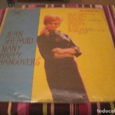 Discos de vinilo: LP-JEAN SHEPARD MANY HAPPY HANGOVERS JAPON 1967??? VINILO ROJO COUNTRY. Lote 89385916