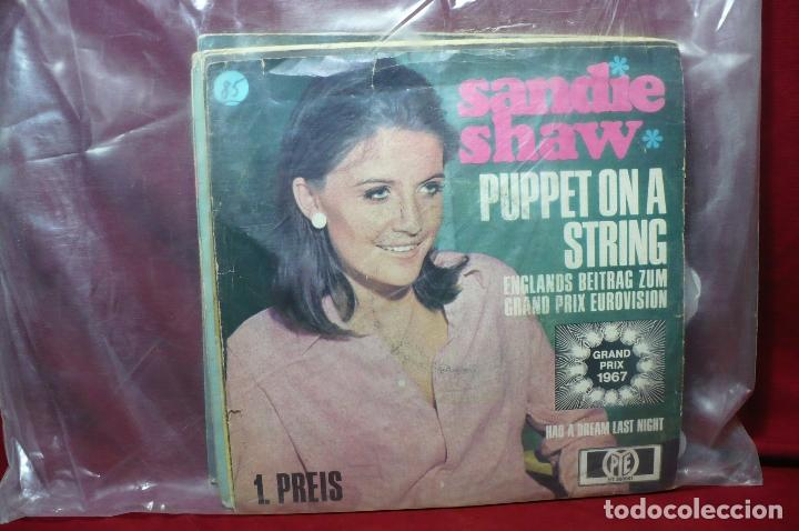 Discos de vinilo: sandie shaw / puppet on a string / had a dream lst night / grand prix eurovision, 1967, aleman - Foto 1 - 89392328