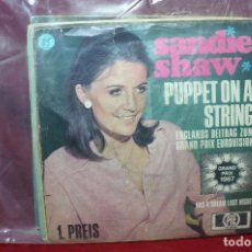 Discos de vinilo: SANDIE SHAW / PUPPET ON A STRING / HAD A DREAM LST NIGHT / GRAND PRIX EUROVISION, 1967, ALEMAN. Lote 89392328