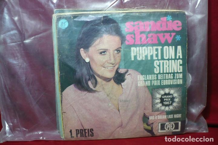Discos de vinilo: sandie shaw / puppet on a string / had a dream lst night / grand prix eurovision, 1967, aleman - Foto 2 - 89392328