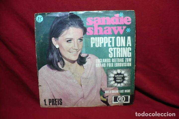 Discos de vinilo: sandie shaw / puppet on a string / had a dream lst night / grand prix eurovision, 1967, aleman - Foto 4 - 89392328