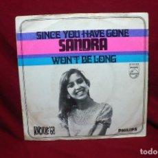 Discos de vinilo: SANDRA REEMER / SINCE YOU HAVE GONE / WON'T BE LONG / FESTIVAL, KNOKKE, 1968, NETHERLANDS . Lote 89395028