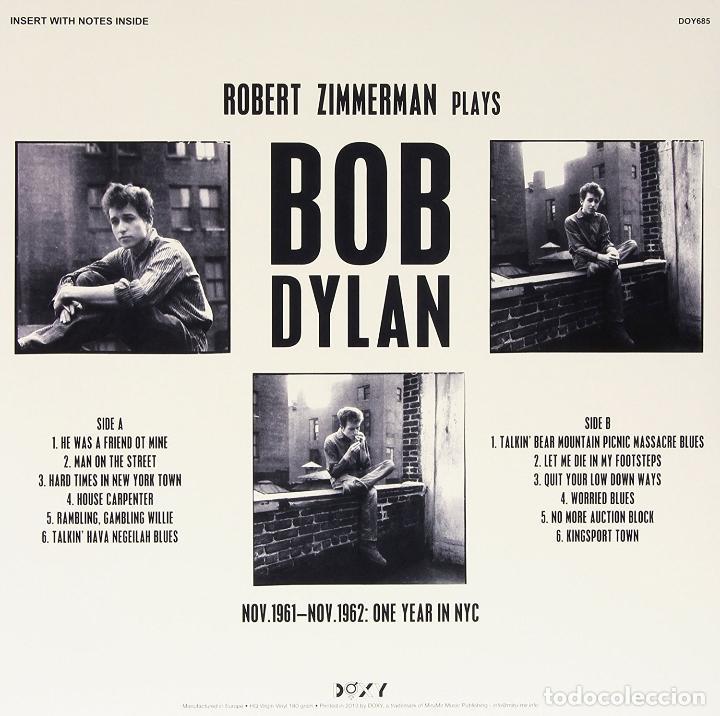 Discos de vinilo: BOB DYLAN * LP 180g * Robert Zimmerman Bob Dylan * Studio Recordings Nov.1961 Nov.1962 Precintado!! - Foto 2 - 118576658